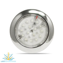 "Load image into Gallery viewer, 12v 3.7"" (94mm) White LED Stainless Steel Ultra Slim Interior Light"