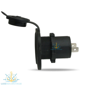 12v Recessed Dust & Water-Resistant Cigarette Power Socket