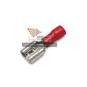 6mm Female Spade Crimp Connectors & Insulator (100 units)
