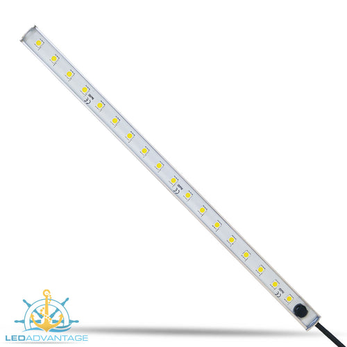 12v 300mm 17-LED Aluminium Waterproof Bar Light & Inbuilt Push Switch