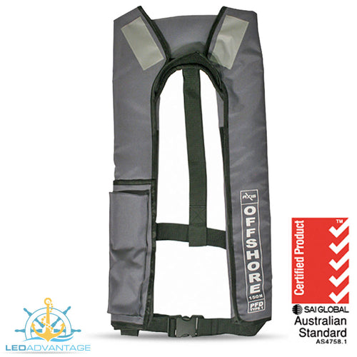 Adults Offshore 150 Manual Life Jackets (Grey)