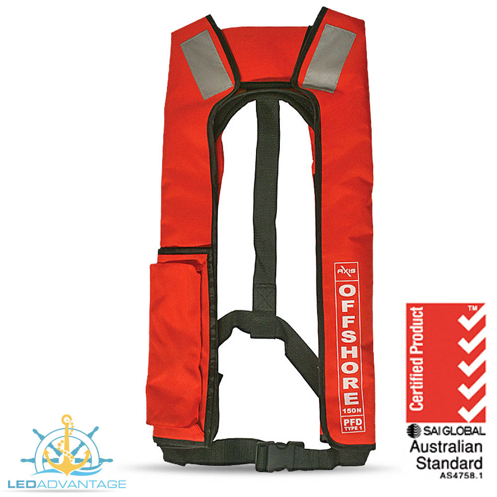 Adults Offshore 150 Manual Life Jackets (Red)