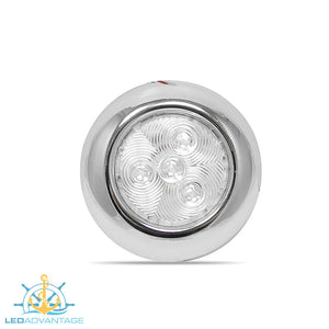 "12v 3"" (76mm) Stainless Steel Surface Mount Slim Ceiling LED Light"