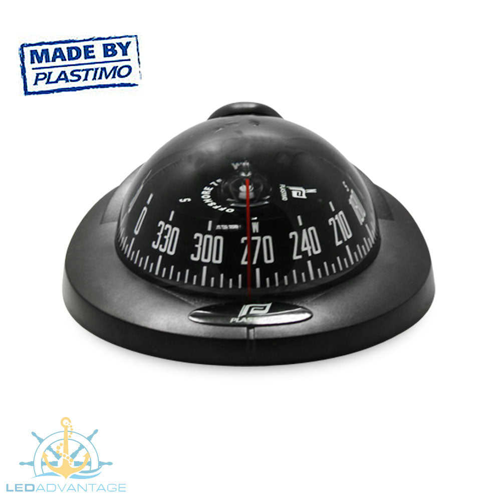 Offshore 75 Power Boat Vibration Absorber System Backlit Compass (Black)