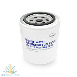 Glass Filled Nylon Head Marine #35-60494-1 & #35-807172 Water Separating Fuel Filter Kit (Clear Bowl & Drain)