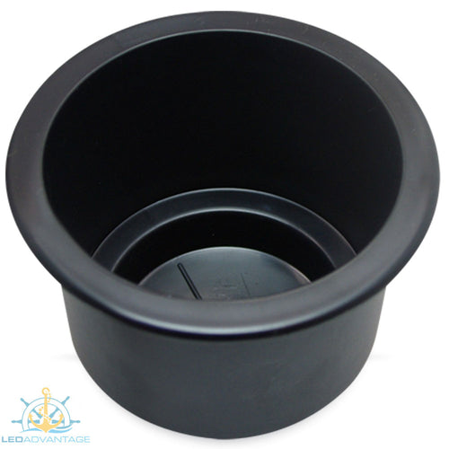Black Large Twin Size Recessed Drink Holder & Water Exit Drain