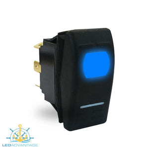 12v StarzLED Illuminated Momentary Rocker Switch (On)/Off