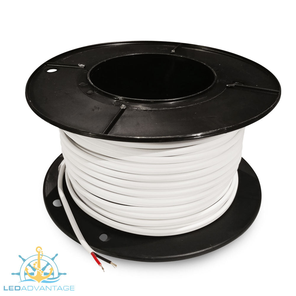 3mm 16 Amp Marine Grade Tinned Twin-Core Wire (10m, 50m & 100m)
