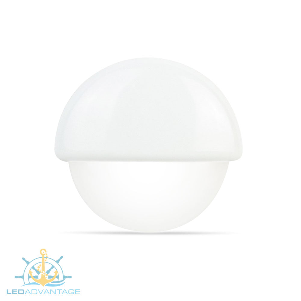 12v White Waterproof Recessed 3-LED Courtesy Light (White LED)