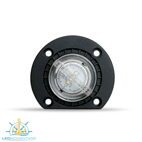 12v 2 Watt Large Underwater Boat LED Bung Light & Base (White)