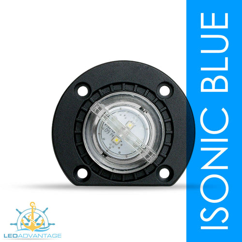12v 2 Watt Large Underwater Boat LED Bung Light & Base (Blue)
