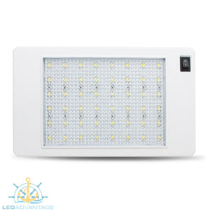 12v/24v 5w 48-LED Slim Rectangular Surface Mount Interior Cabin Light