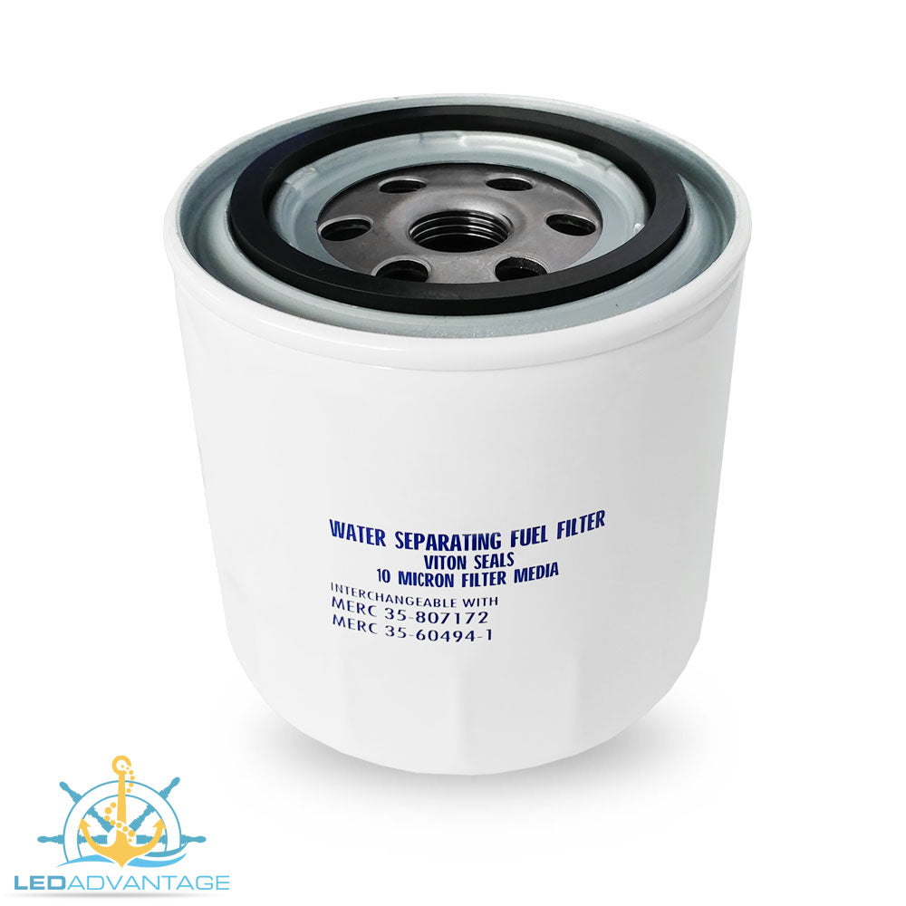 Marine Water Separating Spin On Fuel Filter (Replaces/Interchangeable with Mercury #35-60494-1 & #35-807172)