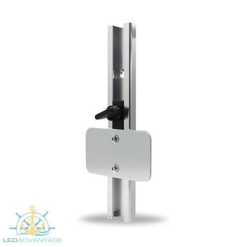 Small Flat Vertical Mount Aluminium Transducer Bracket