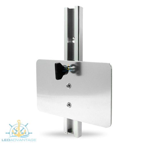 Large Flat Vertical Mount Aluminium Transducer Bracket