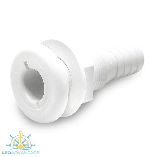 White Nylon Skin Fitting Dual Size 25/28mm (1