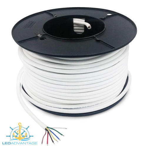 7-Core 5.5 Amp Marine Grade Tinned Trailer Wire (50m Roll)
