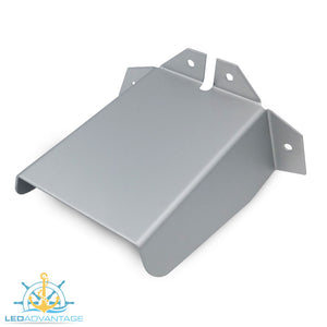 Aluminium Large 130mm Transducer Bracket Spray Deflector Cover