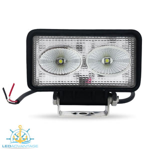 12v~24v 20 Watt Cree LED Marine Fly-bridge Deck Work Light (Black Housing)