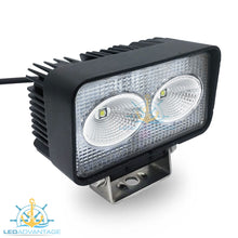 Load image into Gallery viewer, 12v~24v 20 Watt Cree LED Marine Fly-bridge Deck Work Light (Black Housing)