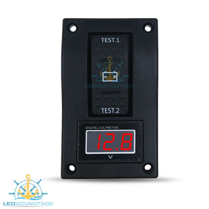 12v~24v Innovative Stylish Wave Digital Dual Battery Condition Tester
