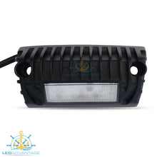 Load image into Gallery viewer, 12v~24v 9 Watt Cree LED Angled Surface Mounted Boat/Caravan Awning Scene Light (Black Housing)