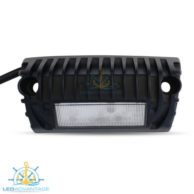 12v~24v 9 Watt Cree LED Angled Surface Mounted Boat/Caravan Awning Scene Light (Black Housing)