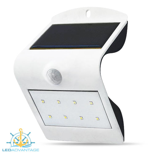 Smart Solar with Sensor LED Wall Light (White Housing)