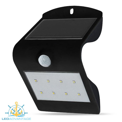 Smart Solar with Sensor LED Wall Light (Black Housing)