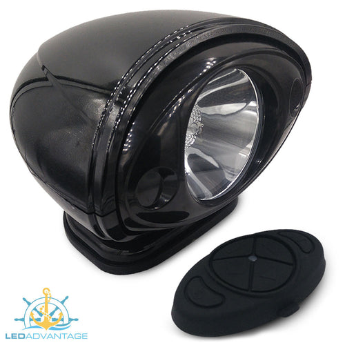 12v Black 35W HID Marine Wireless Remote Controlled Single Sealed Beam Search Light