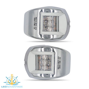 12v Stainless Steel Marine Compact Style Port & Starboard LED Navigation Lights