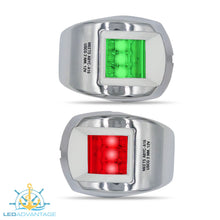 Load image into Gallery viewer, 12v Stainless Steel Marine Compact Style Port & Starboard LED Navigation Lights