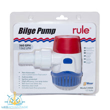 Load image into Gallery viewer, 12v 360 GPH/1,380 LPH NON-Automatic Marine Bilge Pump
