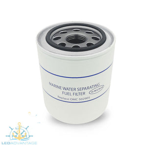 Spin-On Water Separating Fuel Filter (Replaces/Interchangeable with OMC #502905)