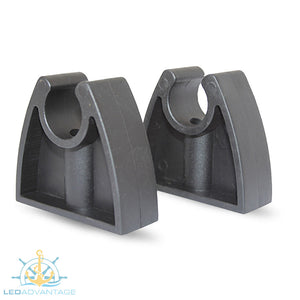 Black Pole Light Storage Clips (Pair) - Suits Removable/Plug-in Anchor Lights