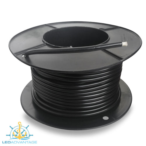 8mm² 74 Amp Marine Grade Tinned Twin-Core Wire - Black (Sold By The Meter)