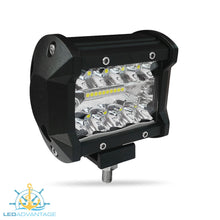 Load image into Gallery viewer, 12~24v 18 Watt Triple Row LED Work/Boat Light (Black Housing)