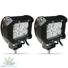 Load image into Gallery viewer, 12~24v 18 Watt Cree 6-LED Work/Boat Lights (Sold as a Pair)