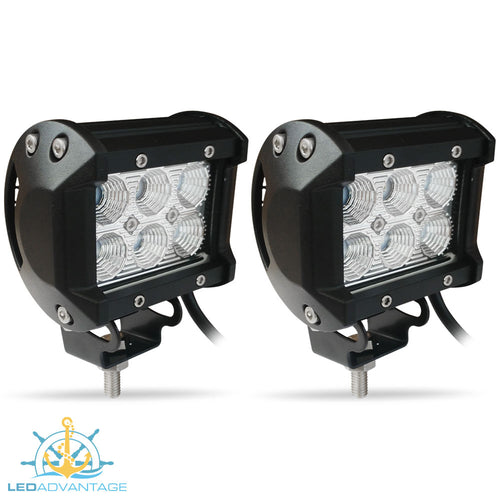 12~24v 18 Watt Cree 6-LED Work/Boat Lights (Sold as a Pair)