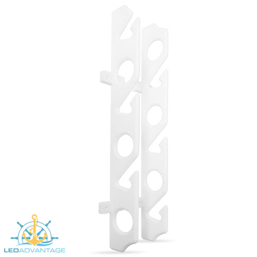 Horizontal/Vertical Wall Hanging 6-Fishing Rod Holder Storage Rack Mount