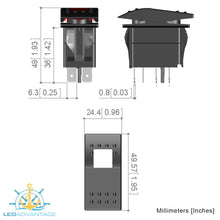 Load image into Gallery viewer, 12v~24v Multiv-Series LED (Carling Style) Illuminated On/Off Rocker Switches (5 Pack)