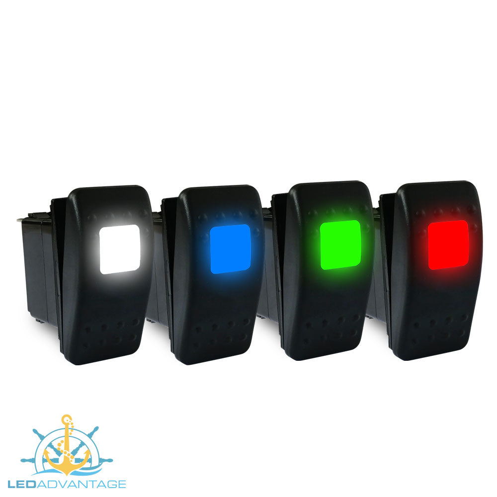 12v~24v Multiv-Series LED (Carling Style) Illuminated On/Off Rocker Switch