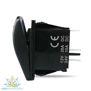 12v~24v Multiv-Series LED (Carling Style) Illuminated On/Off Rocker Switches (5 Pack)