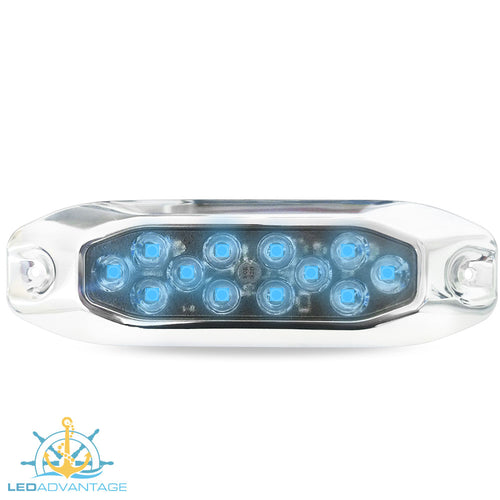 12v~24v 15 Watt Stainless Steel Underwater Submersible Light (Blue LED)