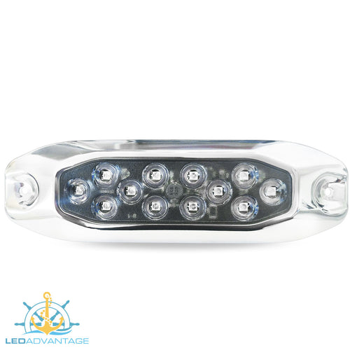 12v~24v 15 Watt Stainless Steel Underwater Submersible Boat LED Light (Available in White, Blue)
