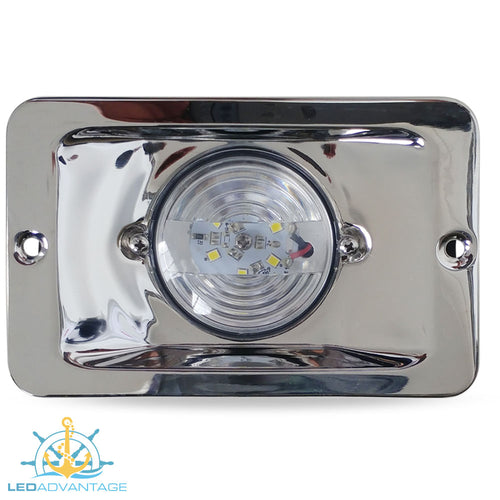 12v 304 Stainless Steel 13cm x 8.5cm 2.2 Watt Rectangular LED Cockpit Light