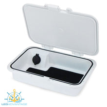 Load image into Gallery viewer, Glove/Helm Box with Dual USB Charger - White Housing with Seadek Pad