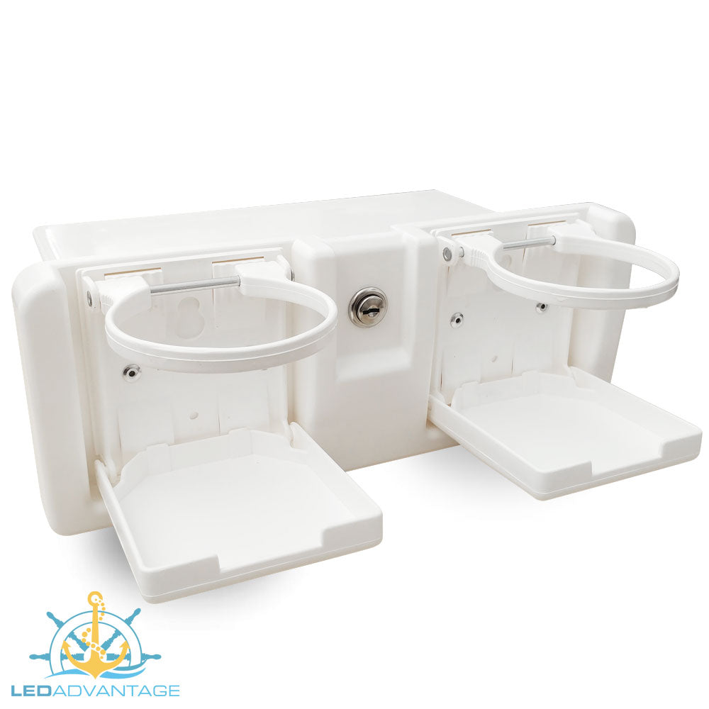 Deluxe White Lockable Glove Storage Box ledadvantage LA-MA-0338 RWB652W