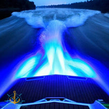 Load image into Gallery viewer, 12v 18 Watt Ultra Compact 316 Stainless Steel Underwater Trailer Boat Transom Submersible LED Light (Blue)