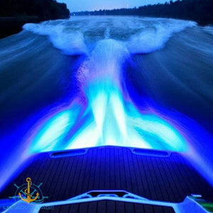 12v 18 Watt Ultra Compact 316 Stainless Steel Underwater Trailer Boat Transom Submersible LED Light (Blue)